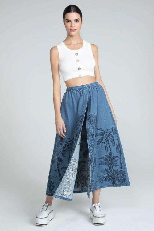 Shorts Saia Star Jeans - Andrea Bogosian