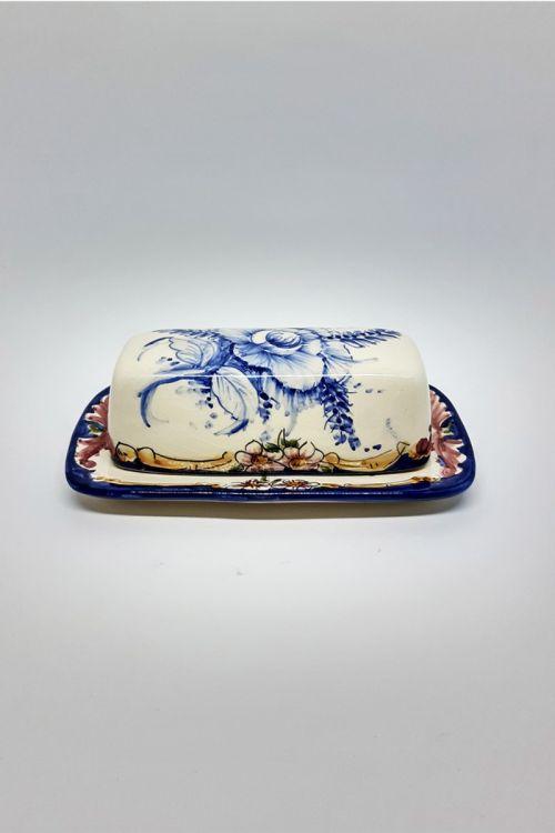 Mantegueira retangular em cerâmica pintada a mão - Madalena