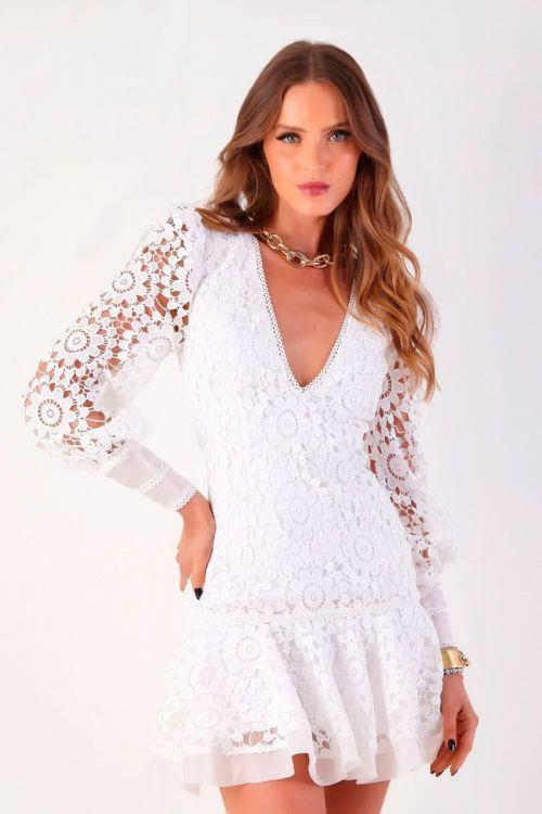 Vestido Curto Guipir Yasmin Branco - Fabulous Agilitá