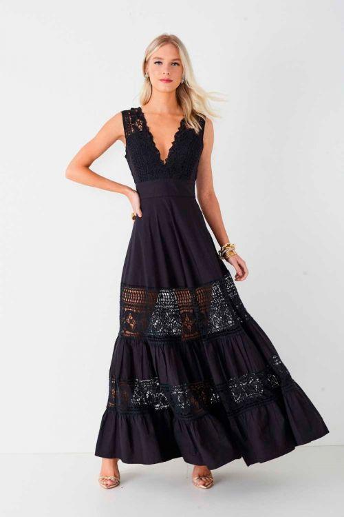 Vestido Longo Renata Preto - Fabulous Agilitá