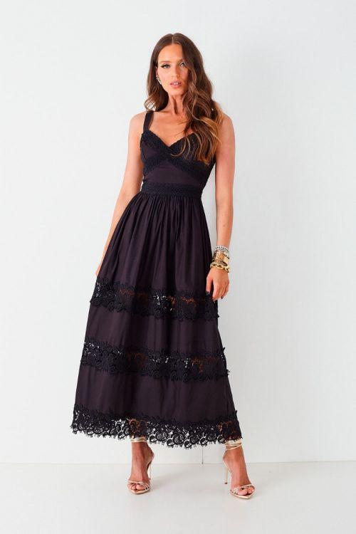 Vestido Midi Izabel Preto - Fabulous Agilitá