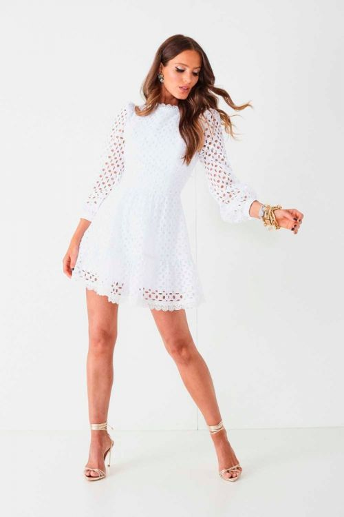 Vestido Curto em Laise Ana Clara Branco - Fabulous Agilitá