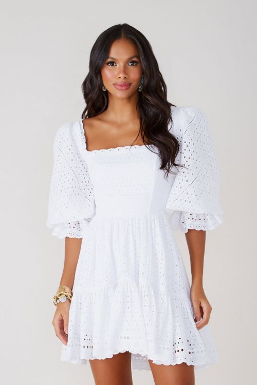 Vestido Curto Laise Thássia Branco - Fabulous Agilitá