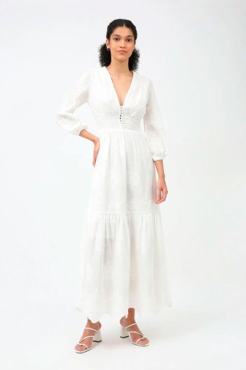 Vestido Longo Summer - Off White