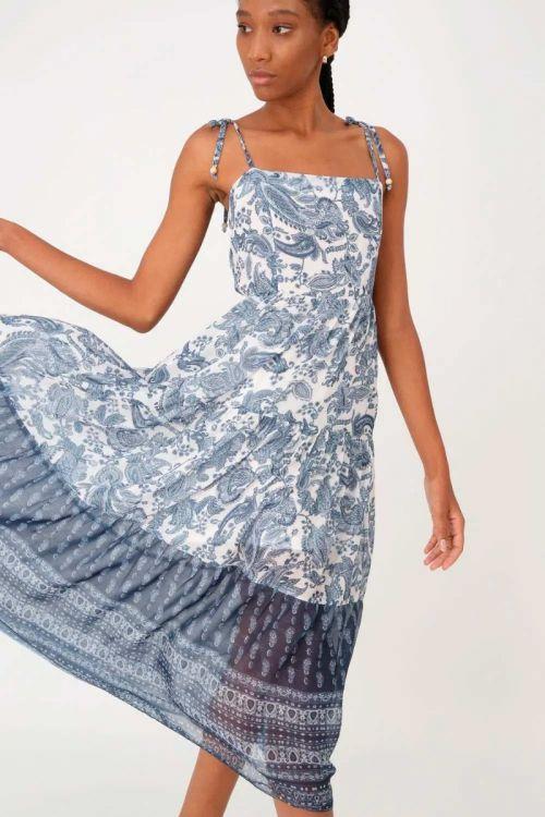 Vestido Midi Paisley Jaqueline - Estampado