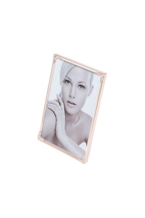 Porta Retrato aço Fleur 10cm x 15cm