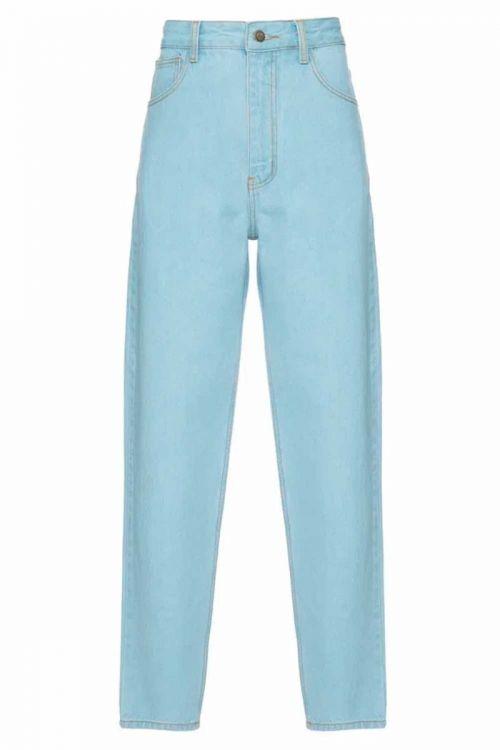 Calça Reta Nandina Jeans Azul Claro - Carol Bassi