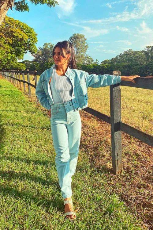 Jaqueta Jeans Moreia Azul - Carol Bassi