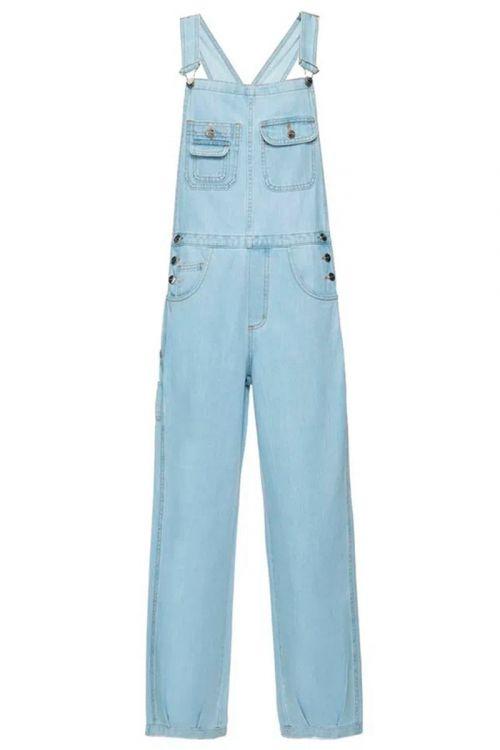 Jardineira Brovalia Jeans Azul Claro - Carol Bassi