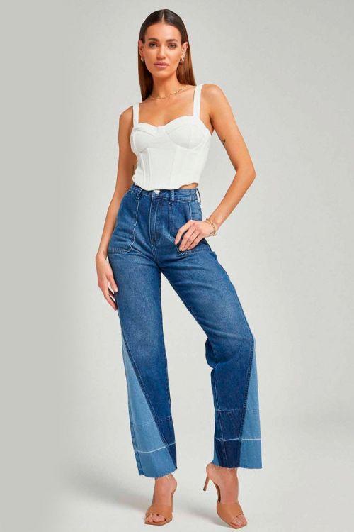 Calça Jeans Loose Leg Triangular - Zen