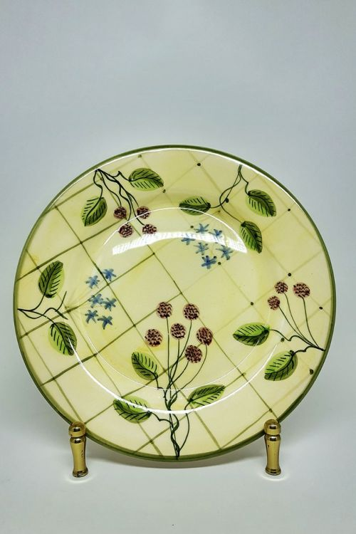 Prato de Jantar em cerâmica pintado a mão - Framboise
