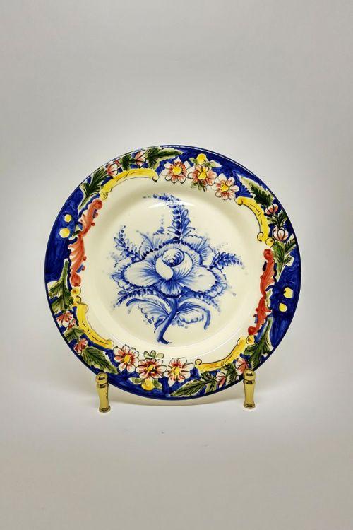 Prato de Jantar em cerâmica pintado a mão - Madalena