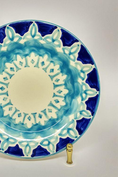 Prato de Jantar em cerâmica pintado a mão - Amalfitana