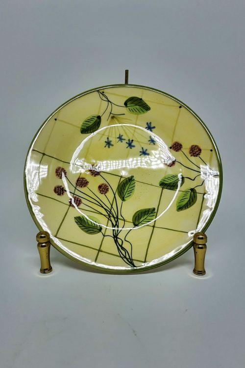 Prato de Sobremesa em cerâmica pintado a mão - Framboise