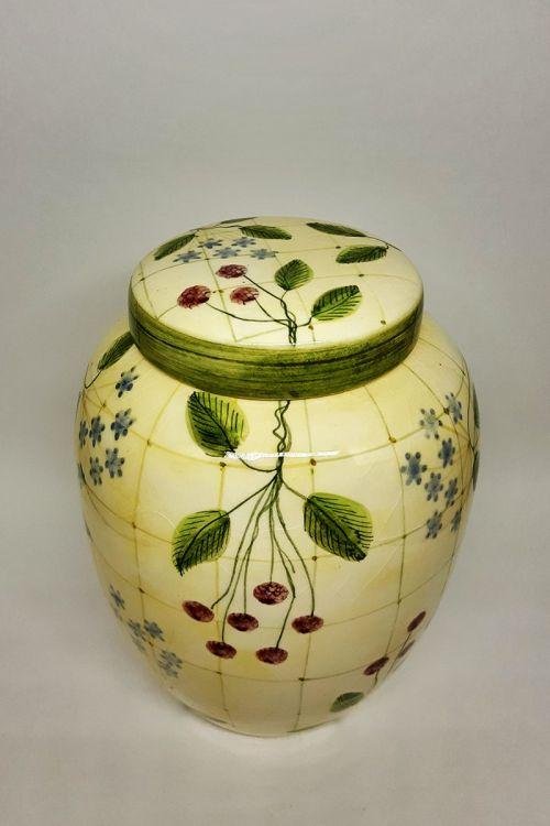 Pote em cerâmica pintado a mão G - Framboise