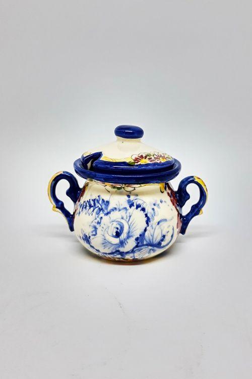 Açucareiro em cerâmica pintado a mão - Madalena