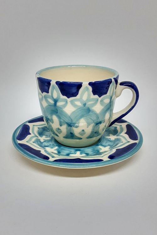 Xicara de Café em cerâmica pintada a mão -Amalfitana