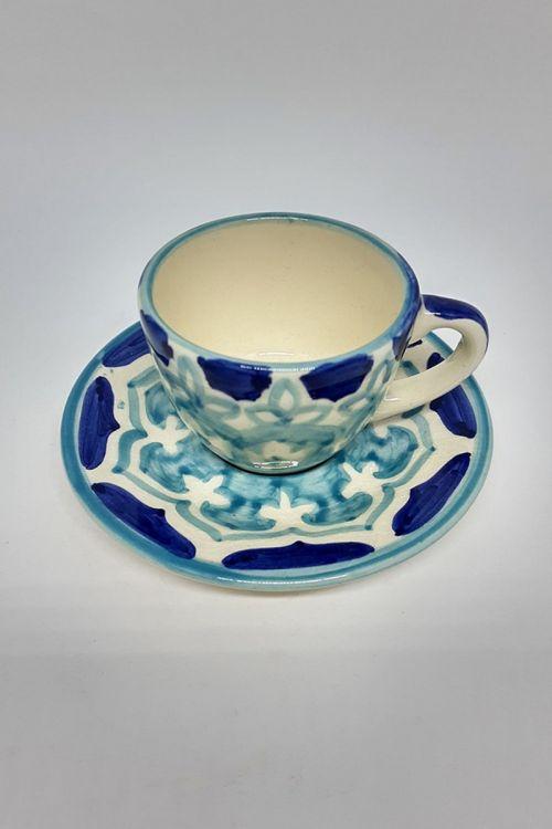Xicara de Chá em cerâmica pintada a mão - Amalfitana