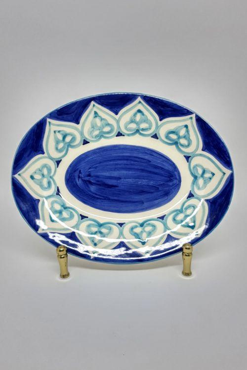 Apoio Ornamental Oval em cerâmica pintado a mão M - Amalfitana