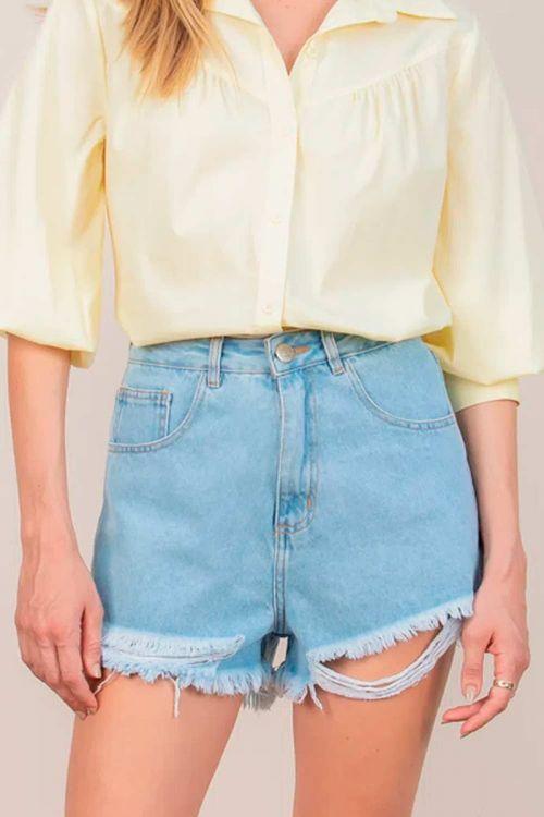 Shorts Jeans Claro Vanessa
