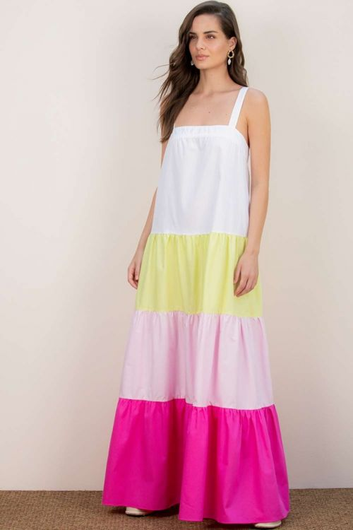 Vestido Longo Flávia - Colorido