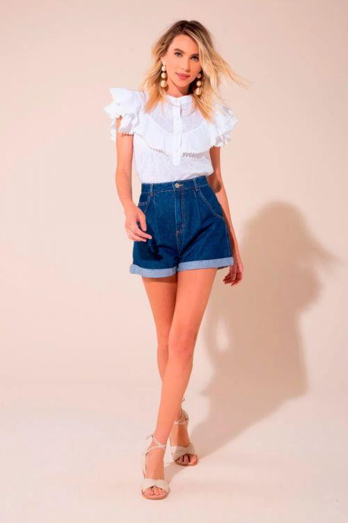 Shorts Rafaela Jeans Escuro