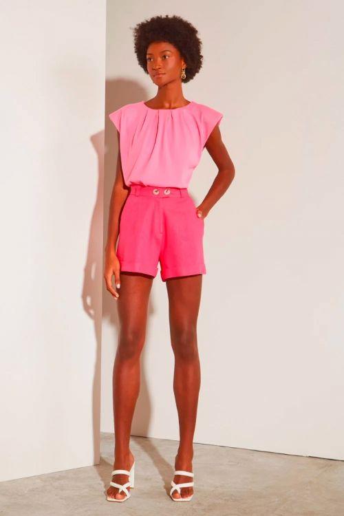 Shorts Alfaiataria Clarissa - Pink Classic