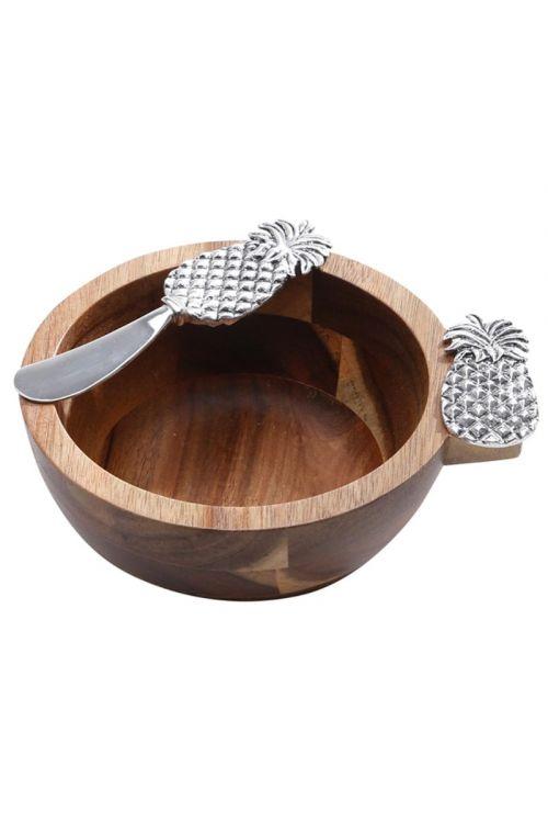 Conjunto 2 peças Bowl e Espatula - Abacaxi Zamac
