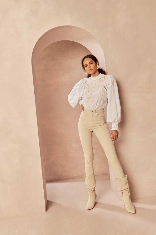 Camisa Bata Marcelle Off White - Le Blog