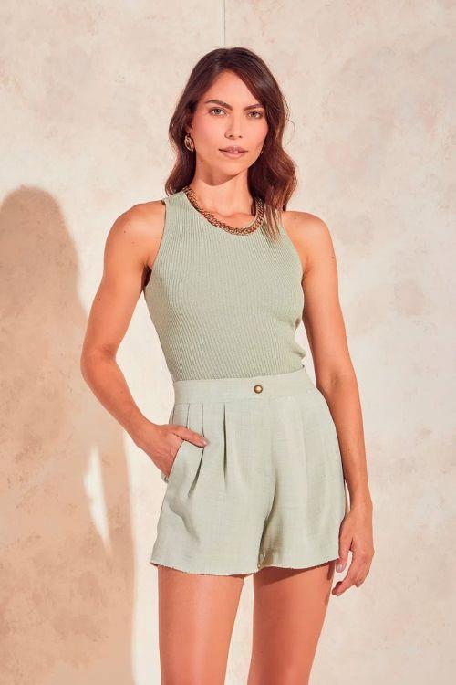 Shorts Curto Alfaiataria Marisa - Light Green