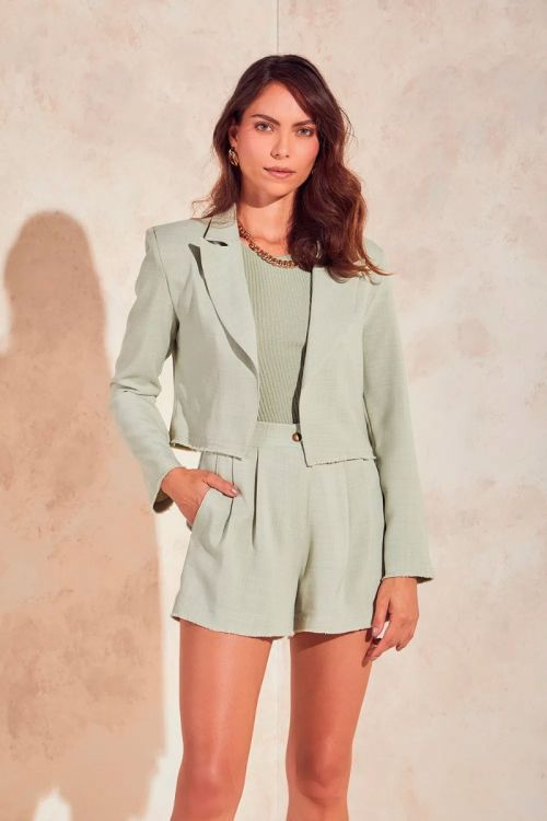 Blazer Curto Alfaiataria Marisa - Light Green