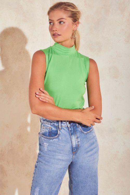 Blusa Gola Alta Julieta - Verde