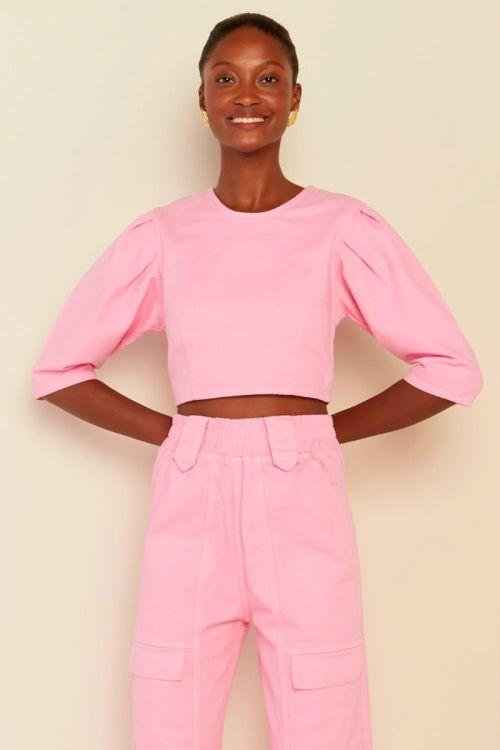 Blusa Cropped Sarja Moana Rosa Pink - Le Blog
