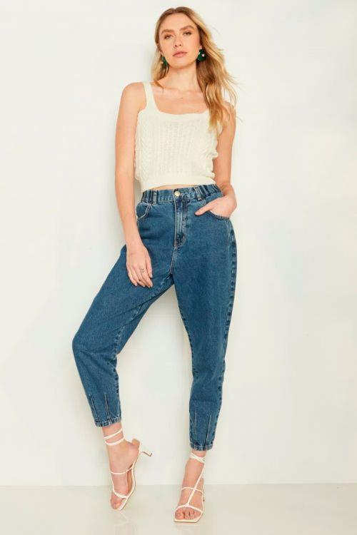 Calça Jeans Slouchy Lavinia Classic Blue - Le Blog