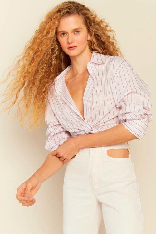 Camisa Cropped Transpassada Lola Listrada - Le Blog
