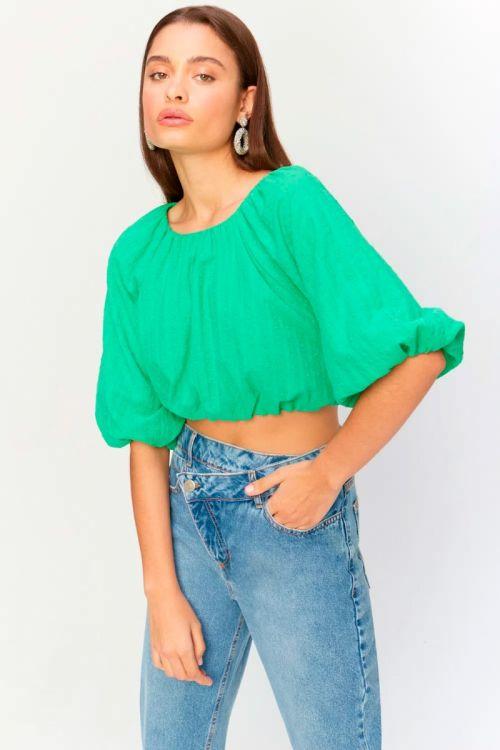 Blusa Recorte Costas Cintia Verde Neon - Le Blog