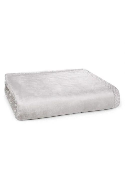 Cobertor King 100% Microfibra Aveludado Piemontesi  Platino Bege 240cm x 290cm
