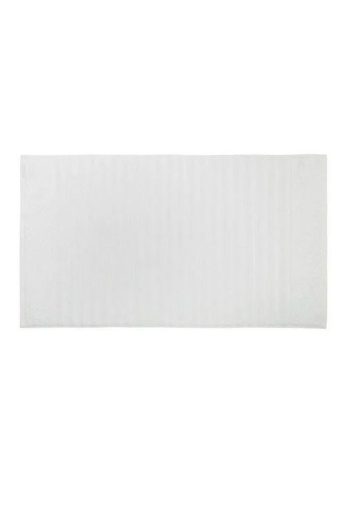 Toalha de Piso 100% Algodão Ondulato Branco 48cm x 80cm