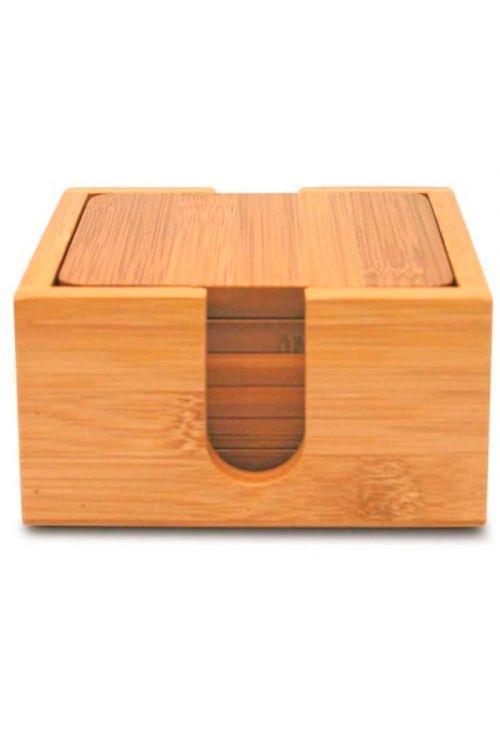 Porta Copos Quadrado 7 peças Tyft Bambu