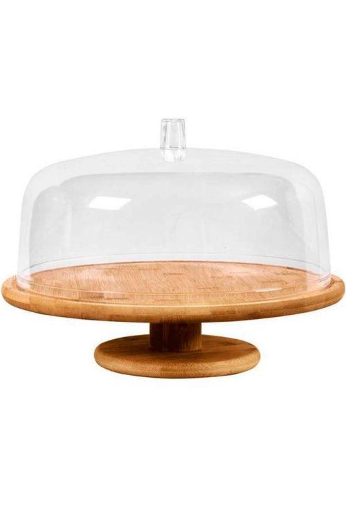 Boleira Bamboo com cúpula e pé - G