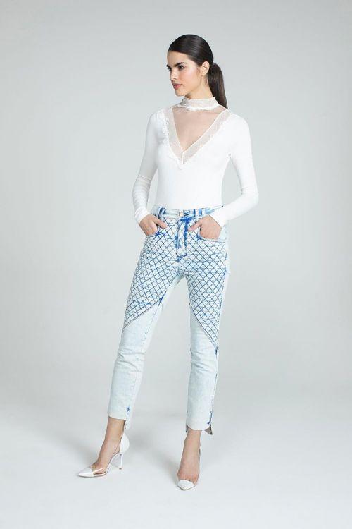 Calça Skinny Salena Jeans Claro - Andrea Bogosian