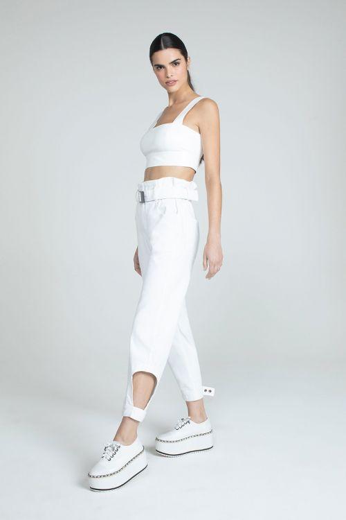 Calça Jeans Sada Branca - Andrea Bogosian