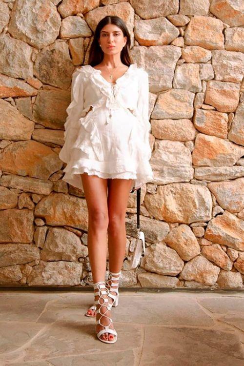 Vestido Curto Save Couture Off White - Andrea Bogosian