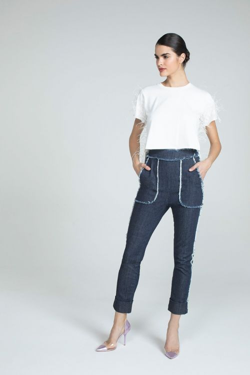 Calça Skinny Sierra Jeans Escuro - Andrea Bogosian