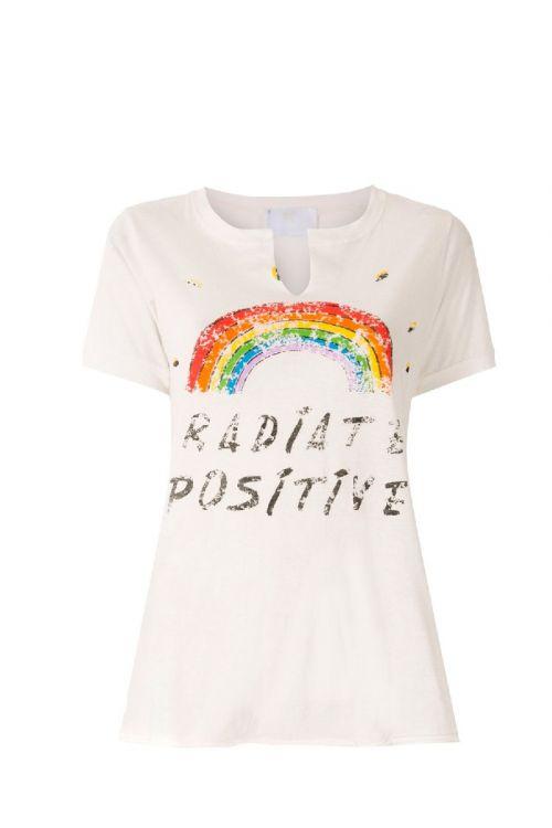 Camiseta MC Saturday Off White - Andrea Bogosian