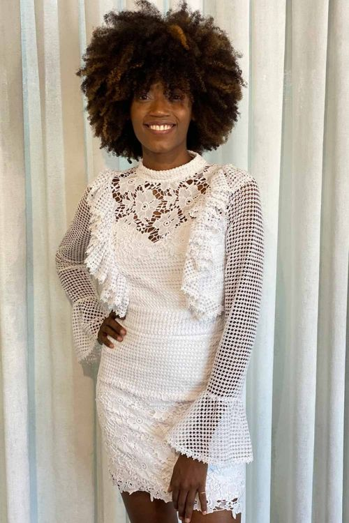 Vestido Curto Johanna Branco - Fabulous