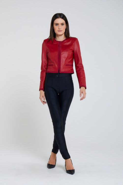 Calça Skinny Recortes Vita Preta - Andrea Bogosian
