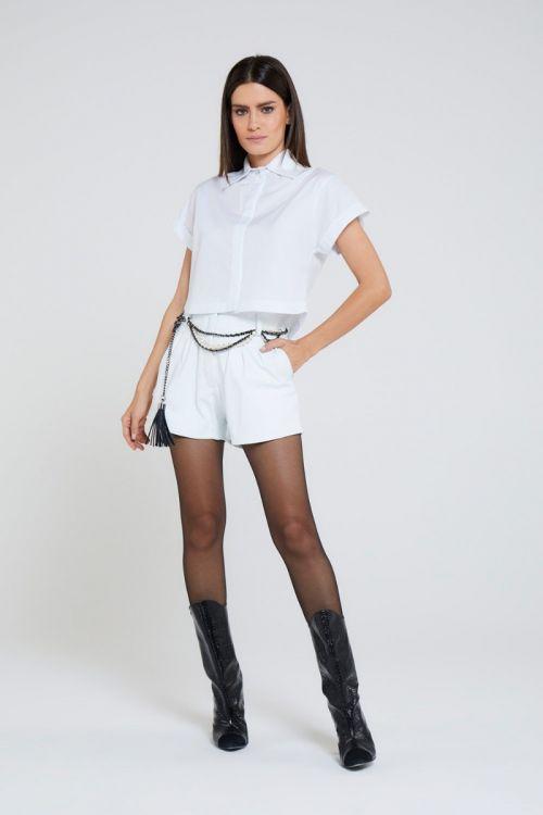 Camisa Manga Curta Vous Branca - Andrea Bogosian