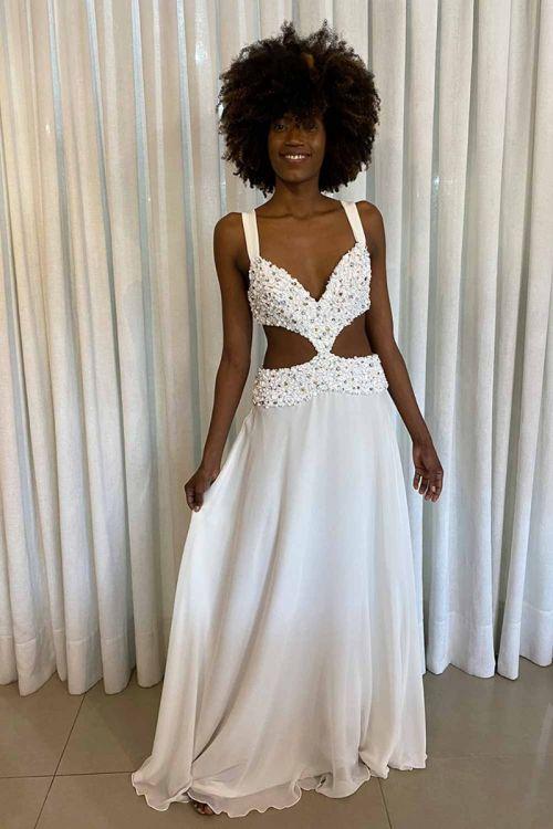 Vestido Longo Maitê Off White - Fabulous Agilitá
