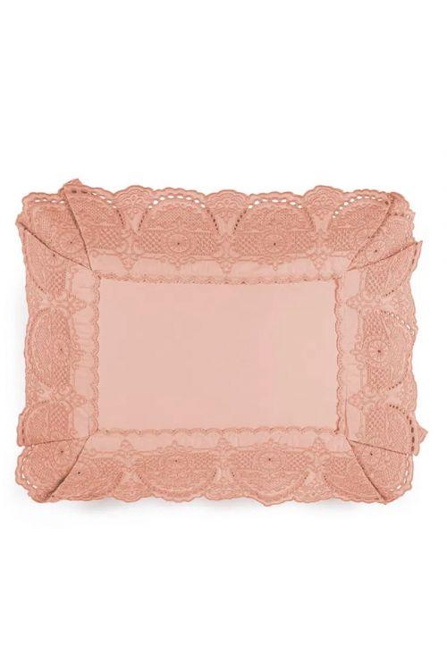 Almofada para Cama 300 Fios Cetim 100% Algodão Egípcio Giovanna Rosa Perla 30cm x 40cm